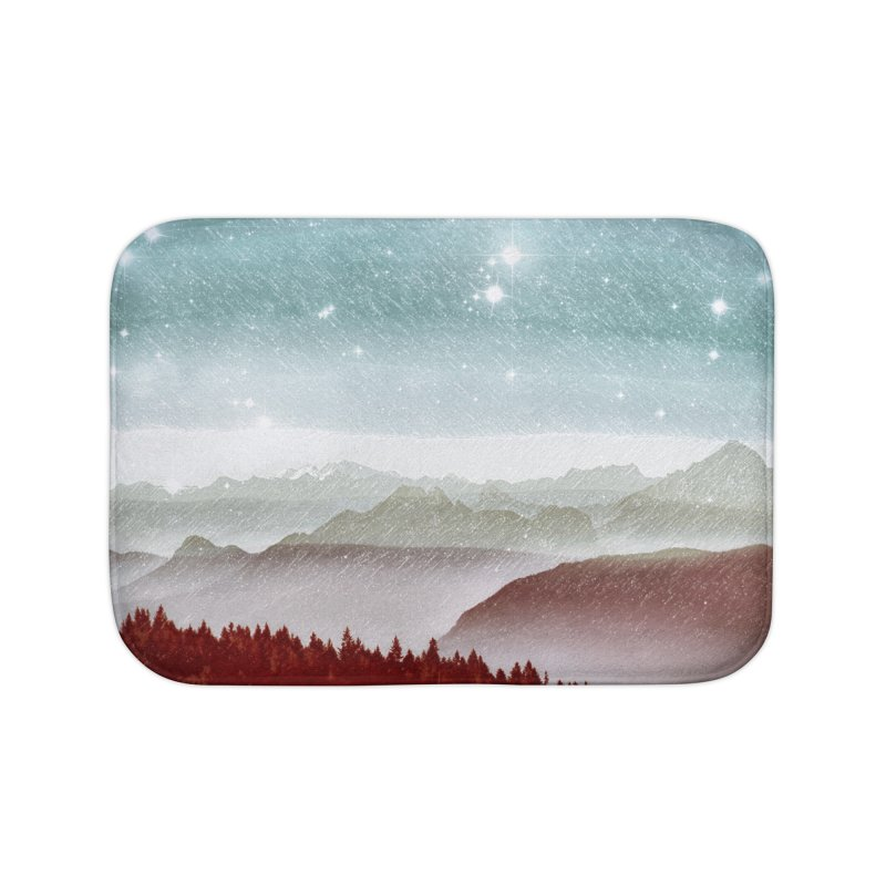 Snow Storm Home Bath Mat by fruityshapes's Shop