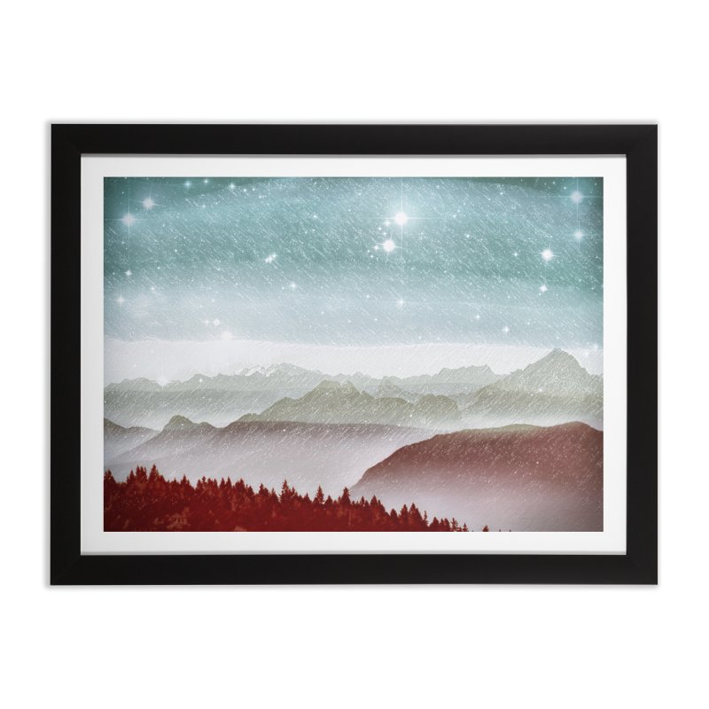 Snow Storm Home Framed Fine Art Print by fruityshapes's Shop