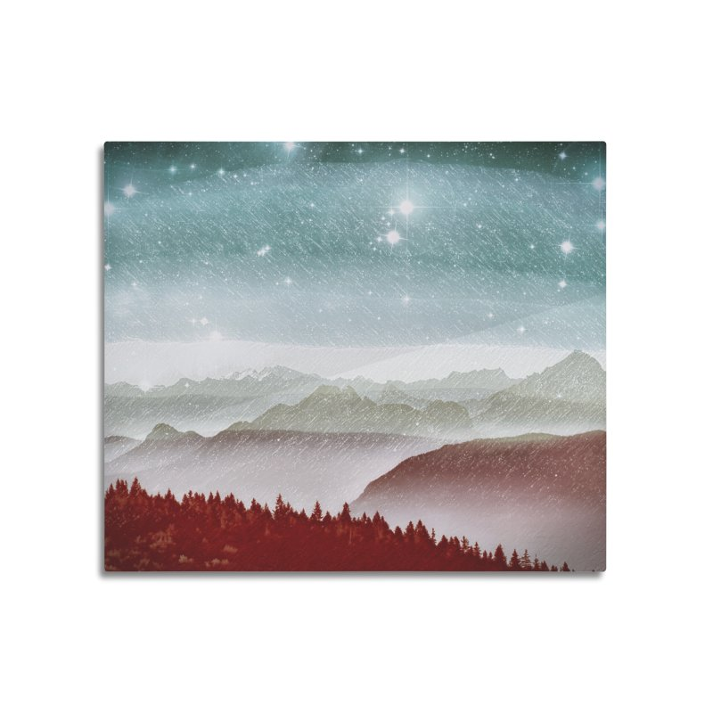 Snow Storm Home Mounted Aluminum Print by fruityshapes's Shop