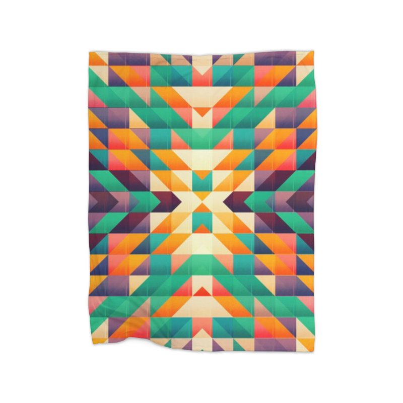 Indian summer Home Fleece Blanket Blanket by fruityshapes's Shop