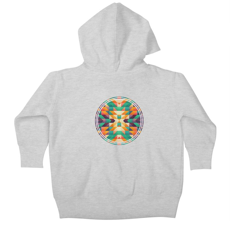 Indian summer Kids Baby Zip-Up Hoody by fruityshapes's Shop