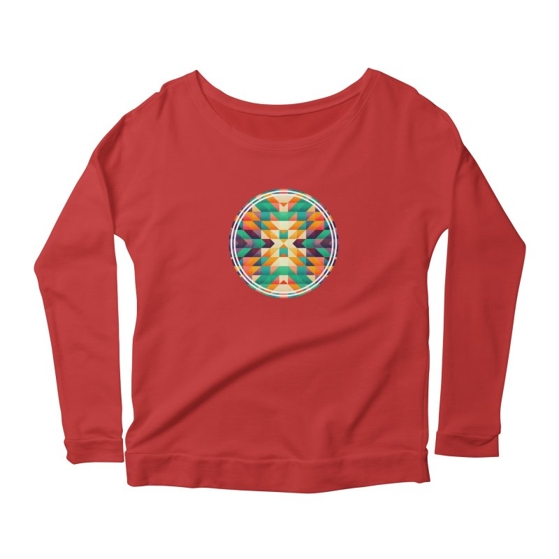 Indian summer Women's Scoop Neck Longsleeve T-Shirt by fruityshapes's Shop