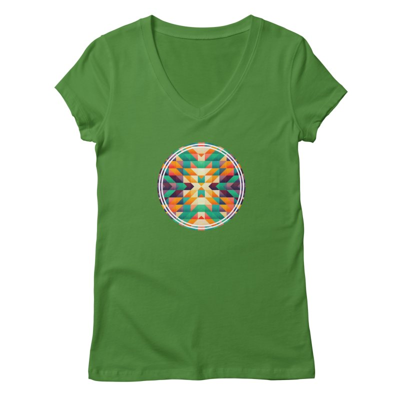Indian summer Women's V-Neck by fruityshapes's Shop