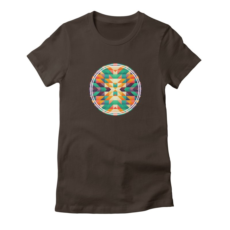 Indian summer Women's Fitted T-Shirt by fruityshapes's Shop