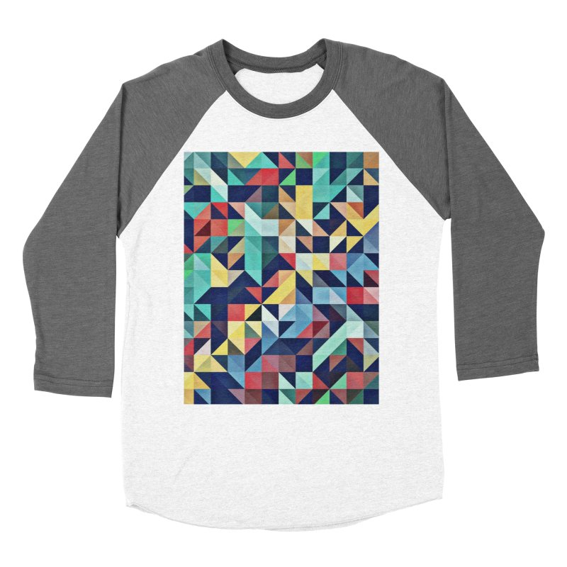 MODERN COLORFUL RETRO GEOMETRIC Women's Longsleeve T-Shirt by fruityshapes's Shop