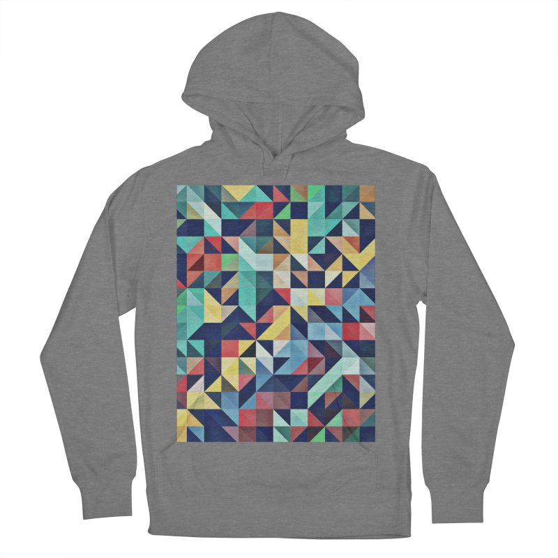 MODERN COLORFUL RETRO GEOMETRIC Women's French Terry Pullover Hoody by fruityshapes's Shop