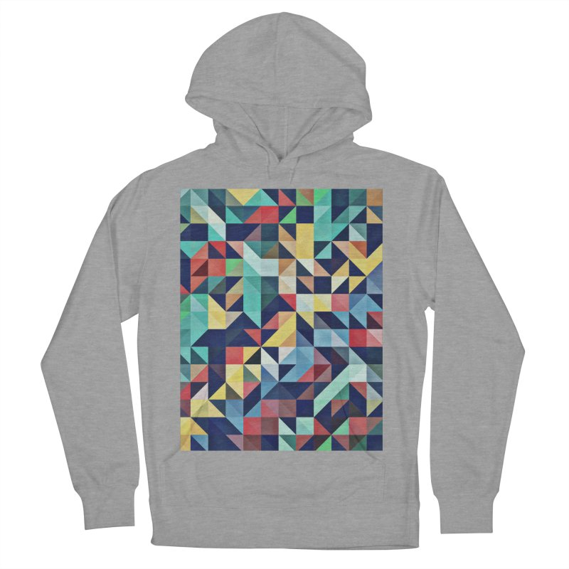 MODERN COLORFUL RETRO GEOMETRIC Men's French Terry Pullover Hoody by fruityshapes's Shop