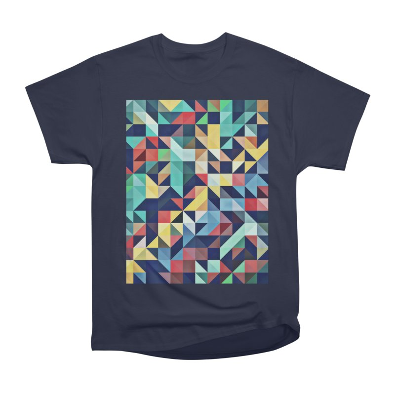 MODERN COLORFUL RETRO GEOMETRIC Women's Heavyweight Unisex T-Shirt by fruityshapes's Shop