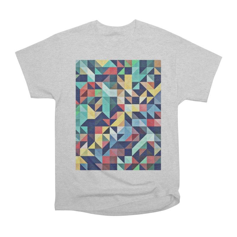 MODERN COLORFUL RETRO GEOMETRIC Women's Heavyweight Unisex T-Shirt by fruityshapes's Shop