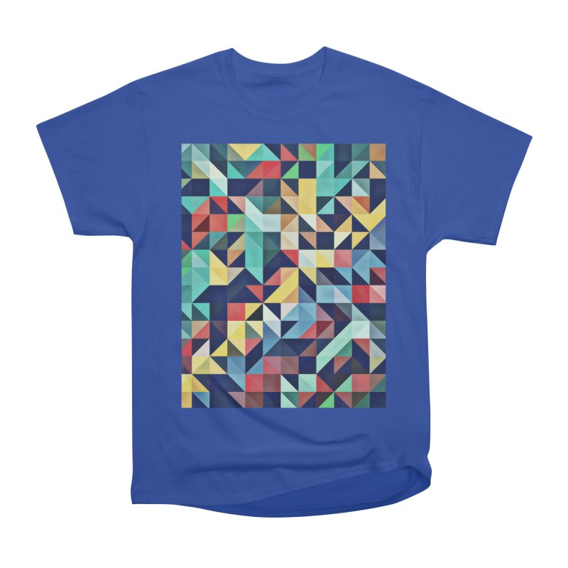 MODERN COLORFUL RETRO GEOMETRIC Men's Heavyweight T-Shirt by fruityshapes's Shop