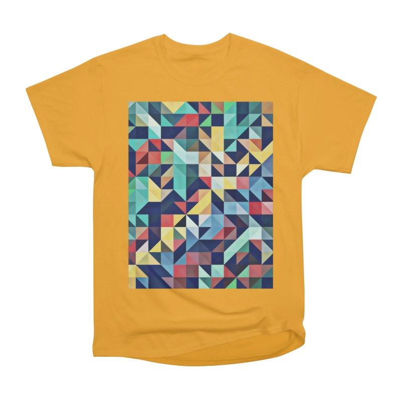MODERN COLORFUL RETRO GEOMETRIC Men's Heavyweight T-Shirt by fruityshapes's Shop