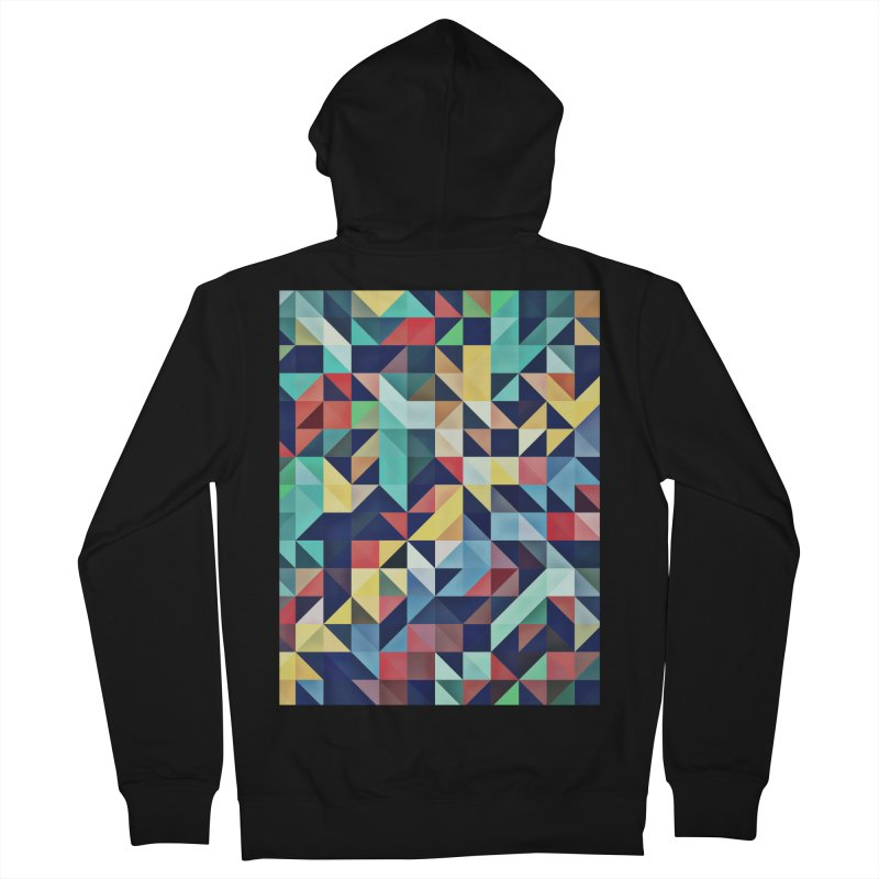 MODERN COLORFUL RETRO GEOMETRIC Women's French Terry Zip-Up Hoody by fruityshapes's Shop