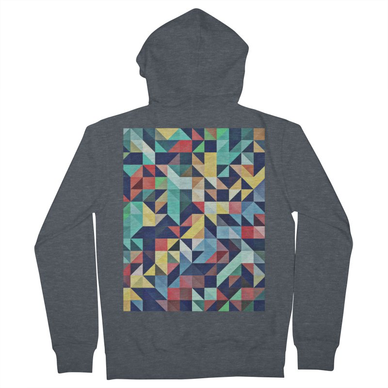 MODERN COLORFUL RETRO GEOMETRIC Men's Zip-Up Hoody by fruityshapes's Shop