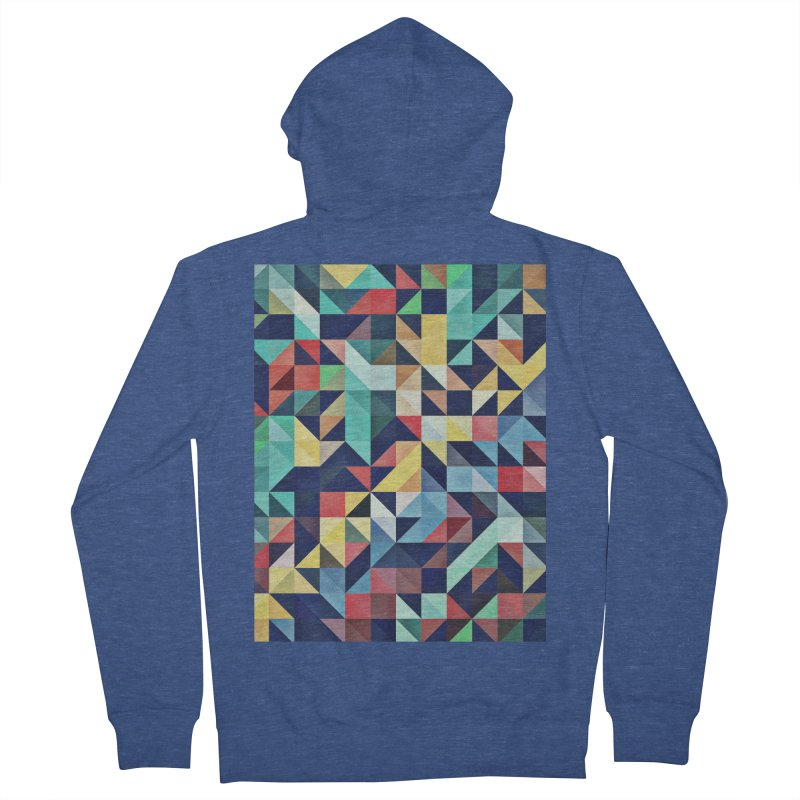 MODERN COLORFUL RETRO GEOMETRIC Men's French Terry Zip-Up Hoody by fruityshapes's Shop