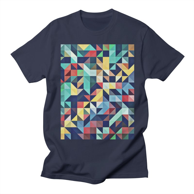 MODERN COLORFUL RETRO GEOMETRIC Women's Unisex T-Shirt by fruityshapes's Shop