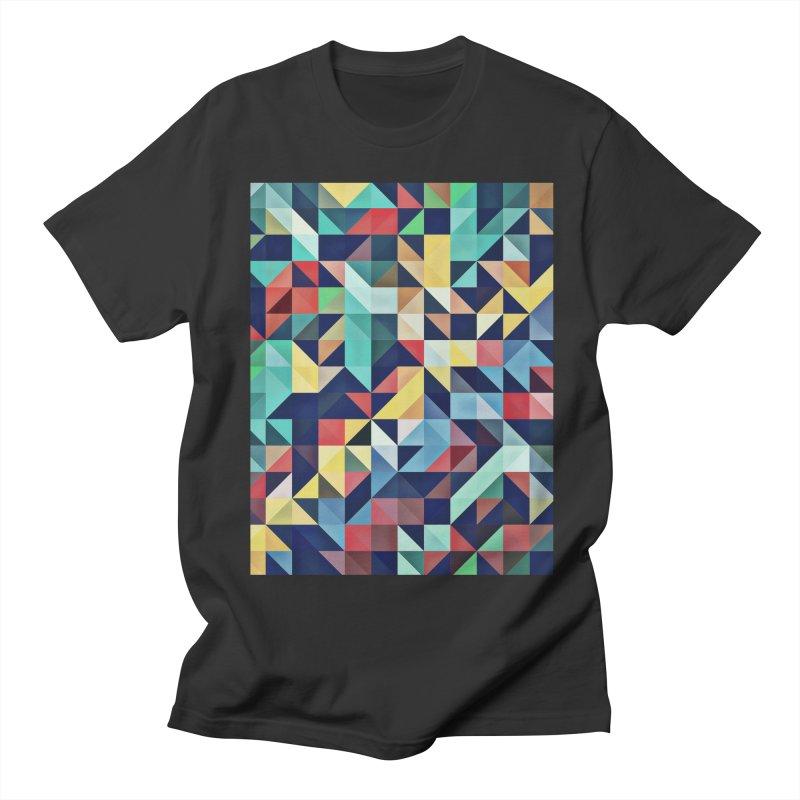 MODERN COLORFUL RETRO GEOMETRIC Men's Regular T-Shirt by fruityshapes's Shop