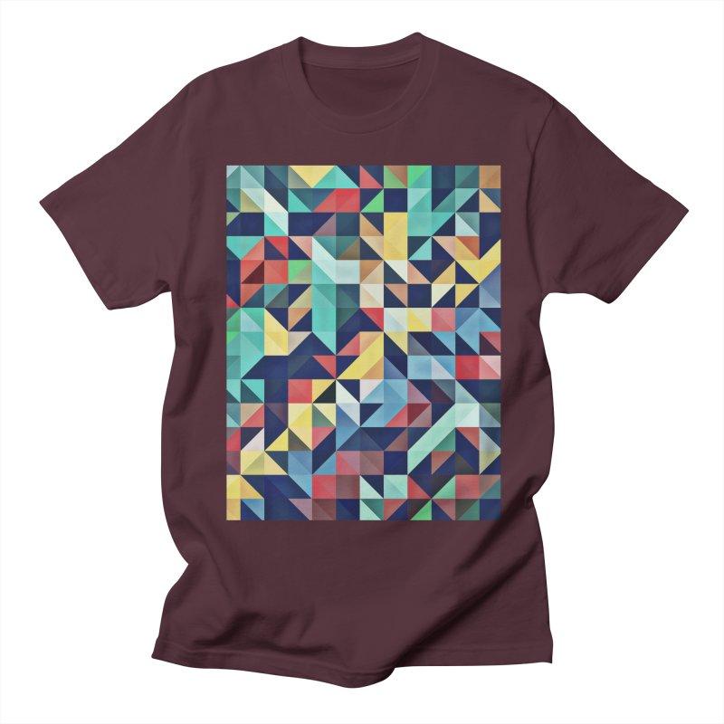 MODERN COLORFUL RETRO GEOMETRIC Men's T-Shirt by fruityshapes's Shop