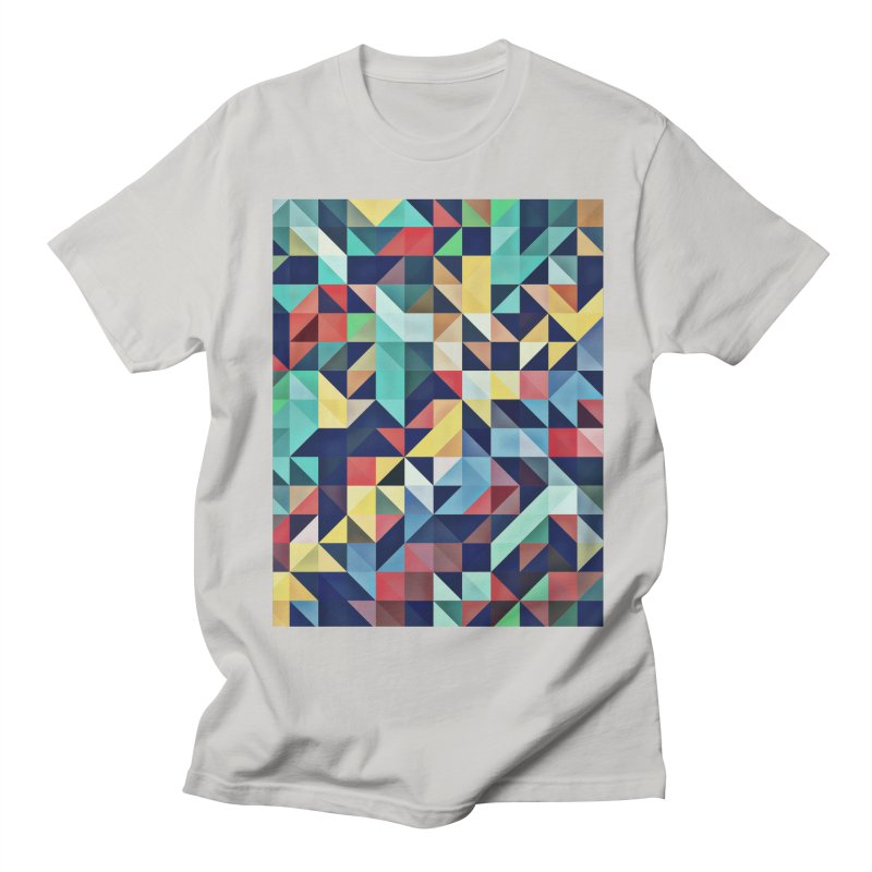 MODERN COLORFUL RETRO GEOMETRIC Women's Regular Unisex T-Shirt by fruityshapes's Shop