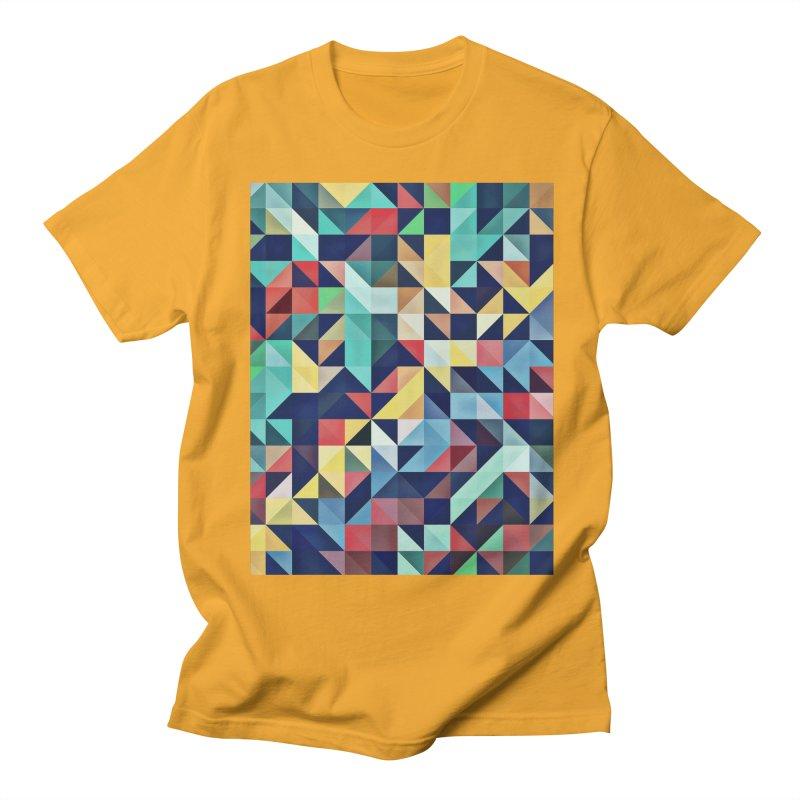 MODERN COLORFUL RETRO GEOMETRIC Women's Regular Unisex T-Shirt by fruityshapes's Shop