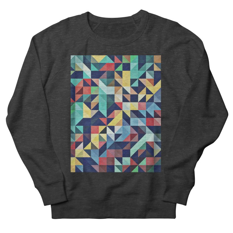 MODERN COLORFUL RETRO GEOMETRIC Women's French Terry Sweatshirt by fruityshapes's Shop