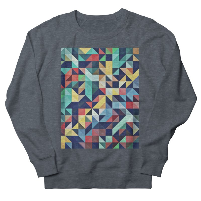 MODERN COLORFUL RETRO GEOMETRIC Women's French Terry Sweatshirt by fruityshapes's Shop