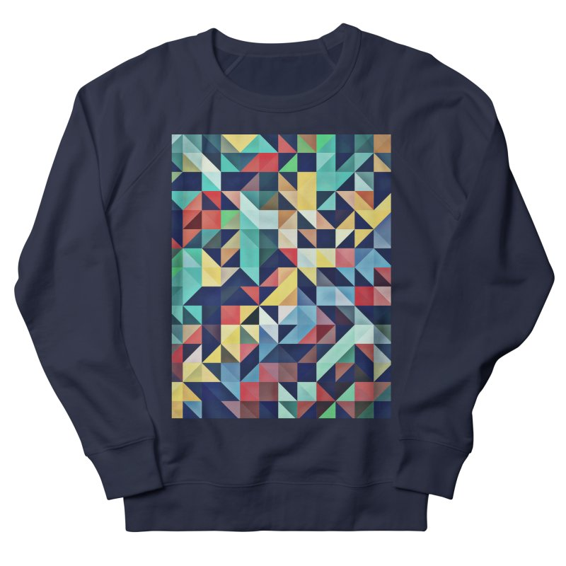 MODERN COLORFUL RETRO GEOMETRIC Men's French Terry Sweatshirt by fruityshapes's Shop