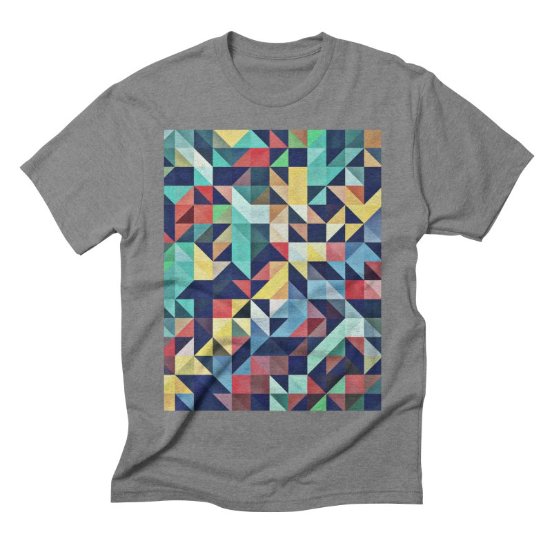 MODERN COLORFUL RETRO GEOMETRIC Men's Triblend T-Shirt by fruityshapes's Shop