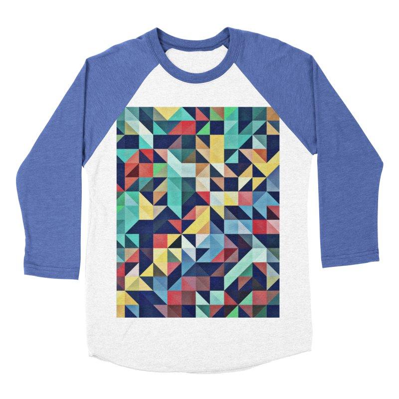 MODERN COLORFUL RETRO GEOMETRIC Women's Baseball Triblend Longsleeve T-Shirt by fruityshapes's Shop