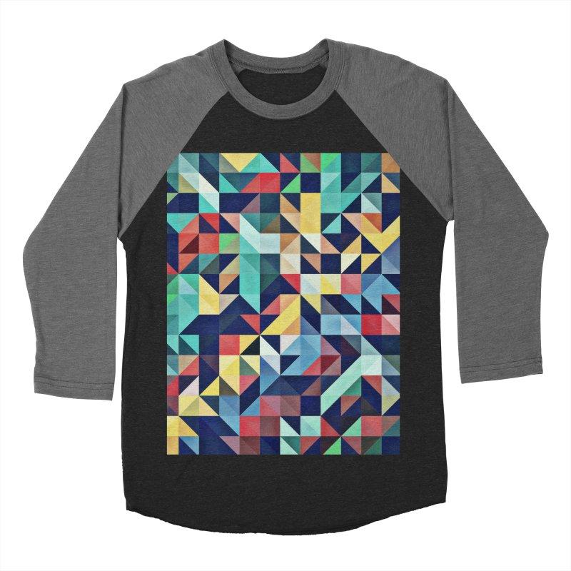 MODERN COLORFUL RETRO GEOMETRIC Men's Baseball Triblend Longsleeve T-Shirt by fruityshapes's Shop