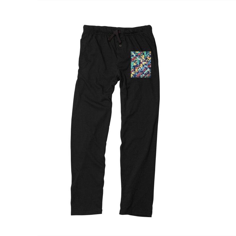 MODERN COLORFUL RETRO GEOMETRIC Men's Lounge Pants by fruityshapes's Shop