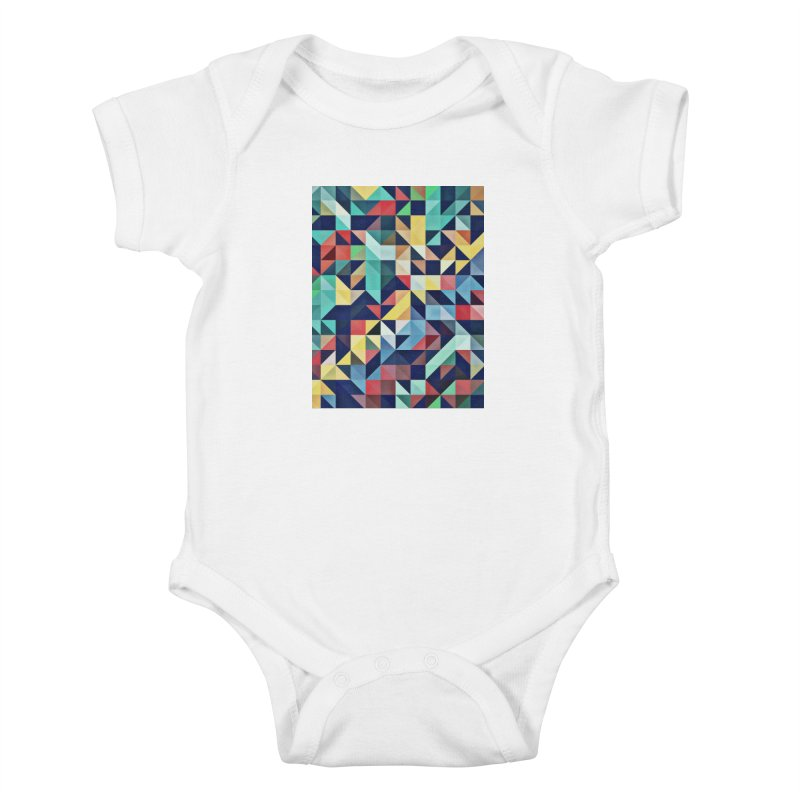 MODERN COLORFUL RETRO GEOMETRIC Kids Baby Bodysuit by fruityshapes's Shop