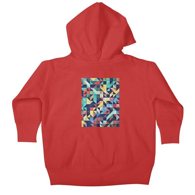 MODERN COLORFUL RETRO GEOMETRIC Kids Baby Zip-Up Hoody by fruityshapes's Shop