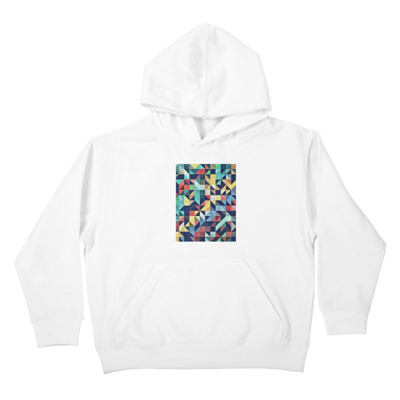 MODERN COLORFUL RETRO GEOMETRIC Kids Pullover Hoody by fruityshapes's Shop