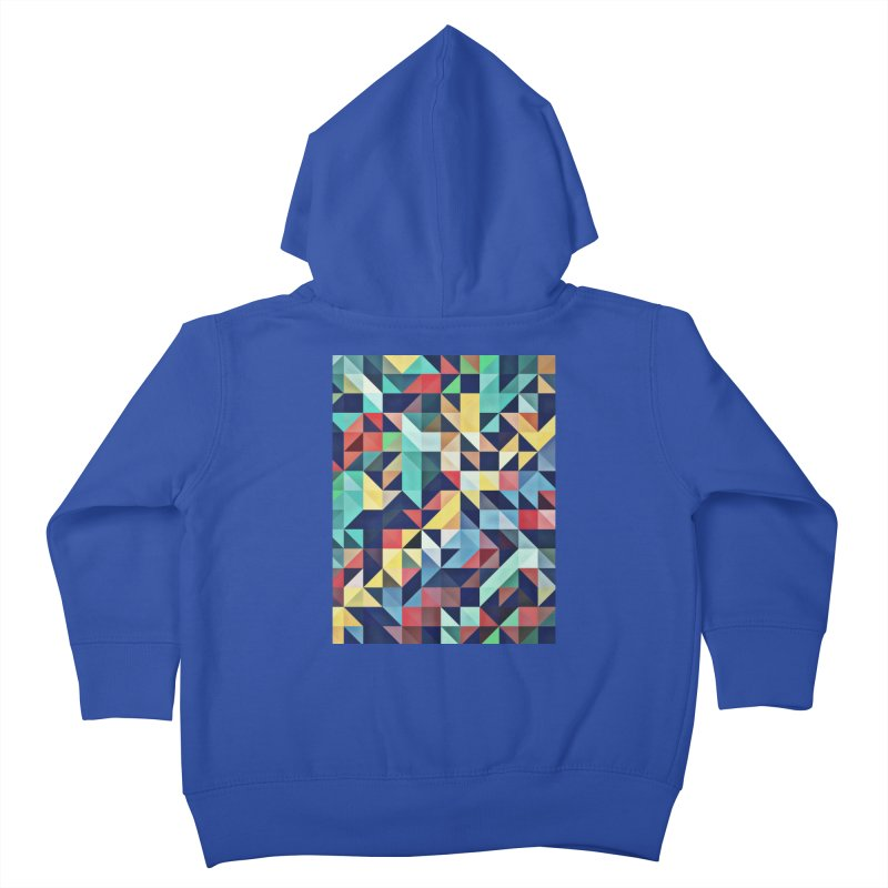 MODERN COLORFUL RETRO GEOMETRIC Kids Toddler Zip-Up Hoody by fruityshapes's Shop