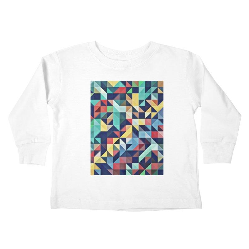 MODERN COLORFUL RETRO GEOMETRIC Kids Toddler Longsleeve T-Shirt by fruityshapes's Shop
