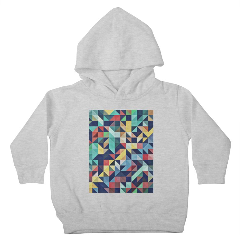 MODERN COLORFUL RETRO GEOMETRIC Kids Toddler Pullover Hoody by fruityshapes's Shop