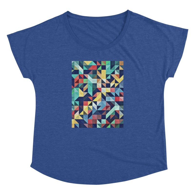 MODERN COLORFUL RETRO GEOMETRIC Women's Dolman Scoop Neck by fruityshapes's Shop