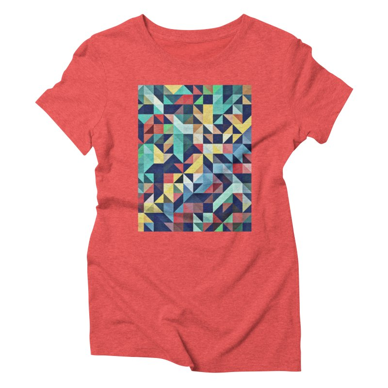 MODERN COLORFUL RETRO GEOMETRIC Women's Triblend T-Shirt by fruityshapes's Shop