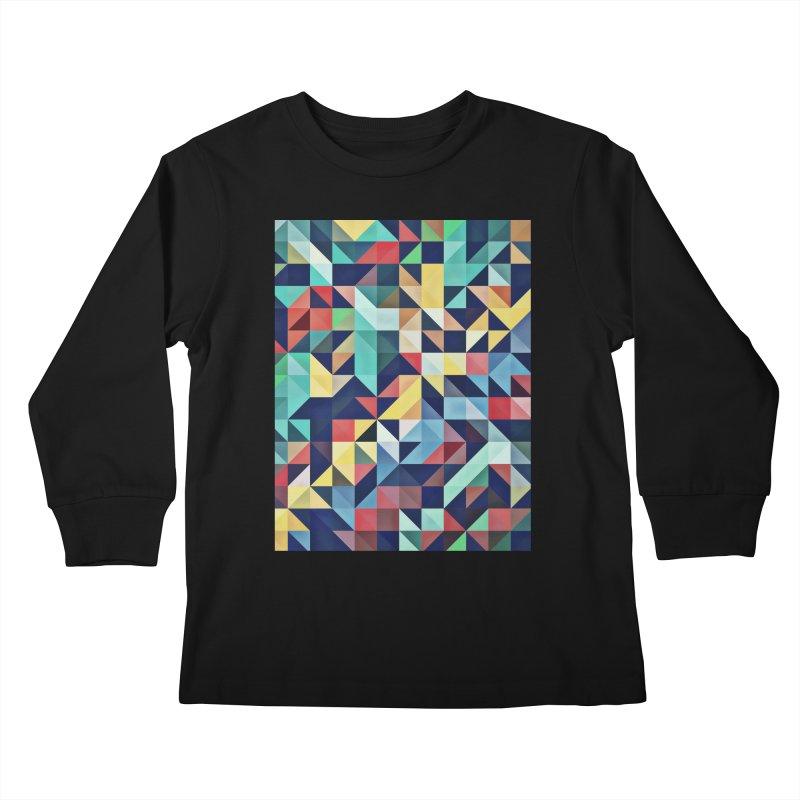MODERN COLORFUL RETRO GEOMETRIC Kids Longsleeve T-Shirt by fruityshapes's Shop