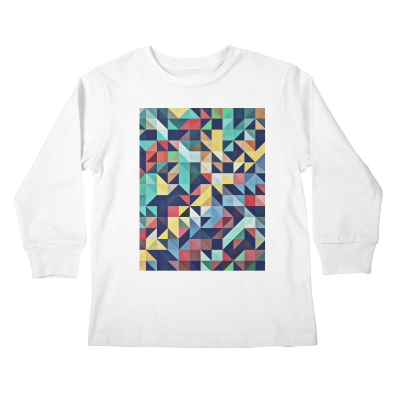 MODERN COLORFUL RETRO GEOMETRIC Kids Longsleeve T-Shirt by fruityshapes's Shop