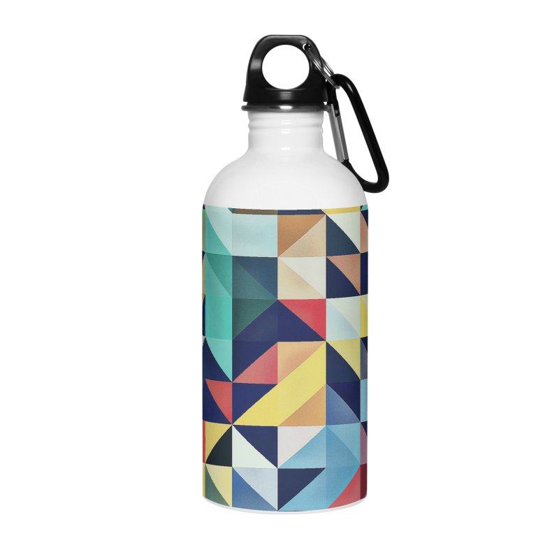 MODERN COLORFUL RETRO GEOMETRIC Accessories Water Bottle by fruityshapes's Shop