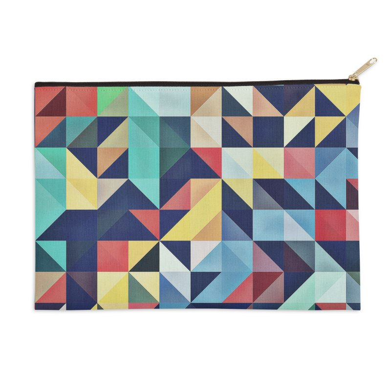MODERN COLORFUL RETRO GEOMETRIC Accessories Zip Pouch by fruityshapes's Shop
