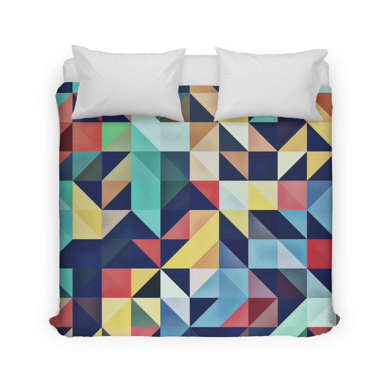 MODERN COLORFUL RETRO GEOMETRIC Home Duvet by fruityshapes's Shop