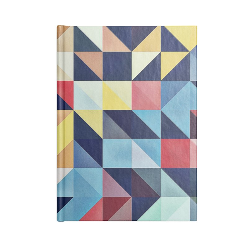 MODERN COLORFUL RETRO GEOMETRIC Accessories Lined Journal Notebook by fruityshapes's Shop