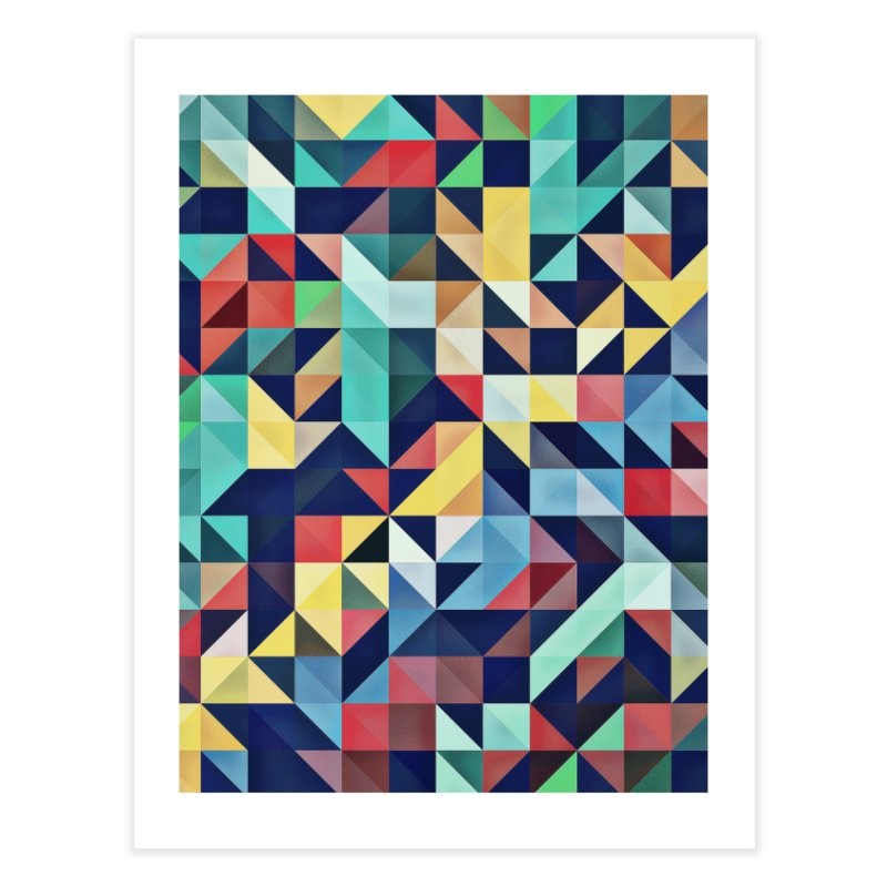 MODERN COLORFUL RETRO GEOMETRIC Home Fine Art Print by fruityshapes's Shop