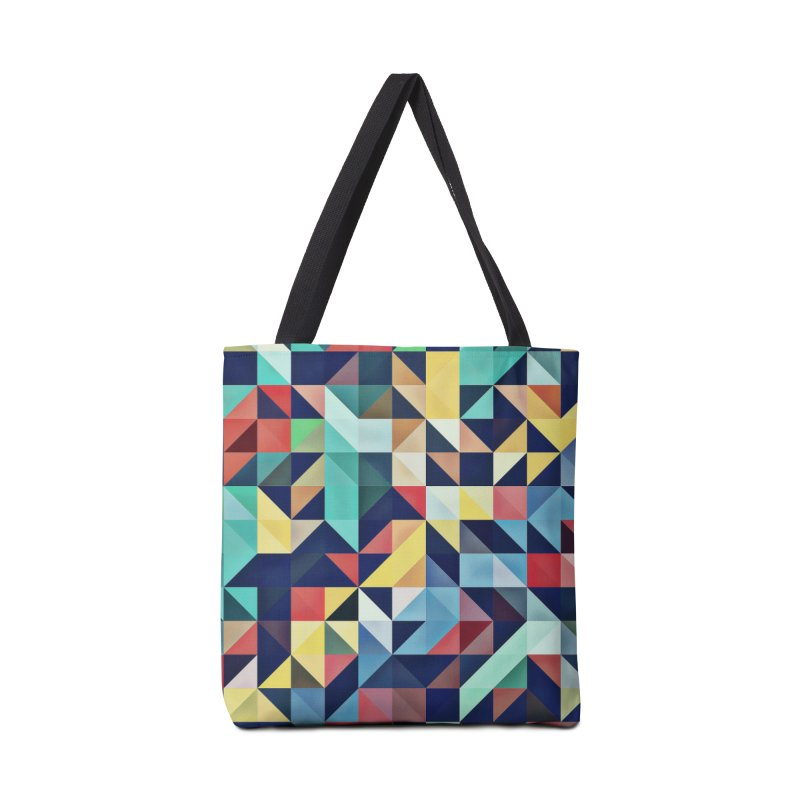 MODERN COLORFUL RETRO GEOMETRIC Accessories Tote Bag Bag by fruityshapes's Shop