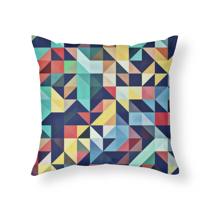 MODERN COLORFUL RETRO GEOMETRIC Home Throw Pillow by fruityshapes's Shop