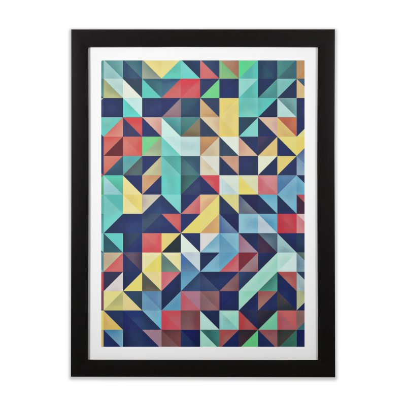 MODERN COLORFUL RETRO GEOMETRIC Home Framed Fine Art Print by fruityshapes's Shop