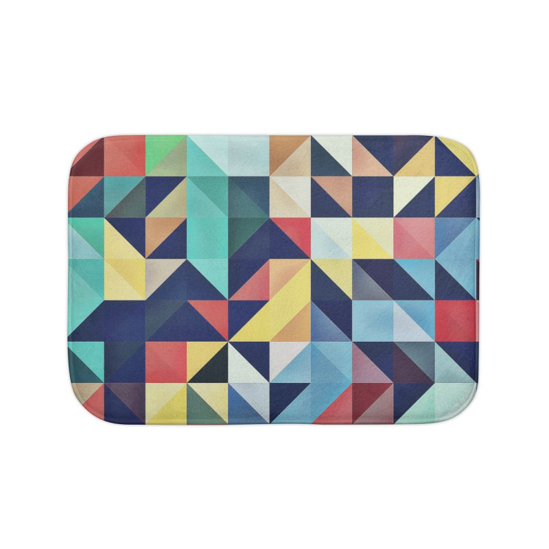 MODERN COLORFUL RETRO GEOMETRIC Home Bath Mat by fruityshapes's Shop