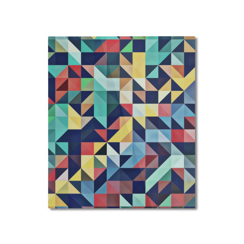 MODERN COLORFUL RETRO GEOMETRIC Home Mounted Aluminum Print by fruityshapes's Shop